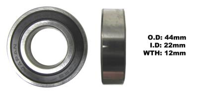 Picture of Bearing Koyo 60/22DDU(I.D 22mm x O.D 44mm x W 12mm)