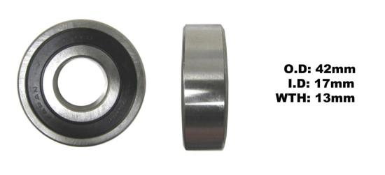 Picture of Bearing Koyo (I.D 17mm x O.D 42mm x W 13mm) DG1742RS-C3