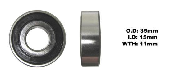 Picture of Bearing Koyo 6202DDU(I.D 15mm x O.D 35mm x W 11mm)