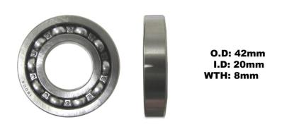 Picture of Bearing 6004 Thin(I.D 20mm x O.D 42mm x W 8mm)