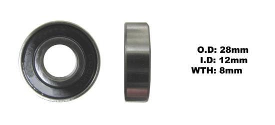 Picture of Bearing NTN 6001LLU(I.D 12mm x O.D 28mm x W 8mm)