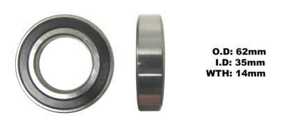 Picture of Bearing NTN 6007LLU(I.D 35mm x O.D 62mm x 14mm)