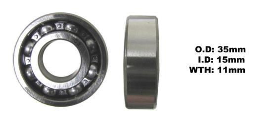 Picture of Bearing NTN 6202(I.D 15mm x O .D 35mm x W 11mm)