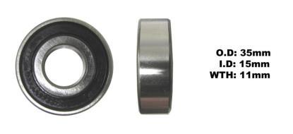 Picture of Bearing NTN 6202LLU(I.D 15mm x O.D 35mm x W 11mm)