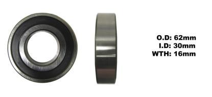 Picture of Bearing NTN 6206LLU(I.D 30mm x O.D 62mm x W 16mm)