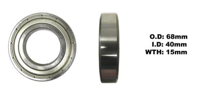 Picture of Bearing SNR 6008ZZ(I.D 40mm x O.D 68mm x W 15mm)
