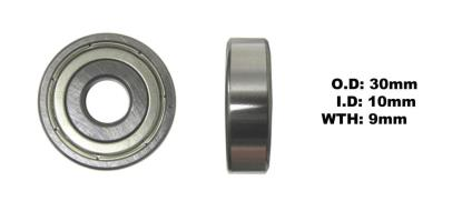 Picture of Bearing SNR 6200ZZ(I.D 10mm x O.D 30mm x W 9mm)