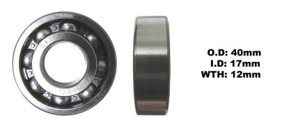 Picture of Bearing SNR 6203(I.D 17mm x O .D 40mm x W 12mm)