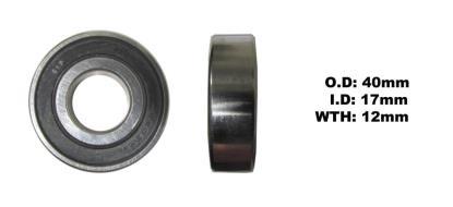 Picture of Bearing SNR 6203EEU(I.D 17mm x O.D 40mm x W 12mm)