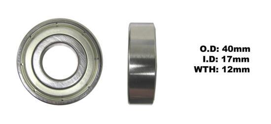 Picture of Bearing SNR 6203ZZ(I.D 17mm x O.D 40mm x W 12mm)