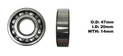 Picture of Bearing SNR 6204(I.D 20mm x O.D 47mm x W 14mm)