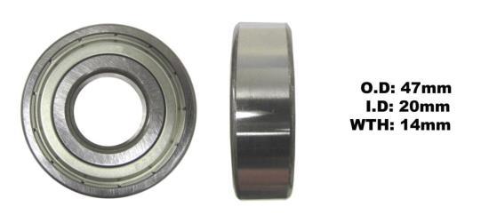 Picture of Bearing SNR 6204ZZ(I.D 20mm x O.D 47mm x W 14mm)