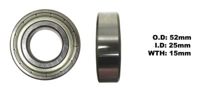 Picture of Bearing SNR 6205ZZ(I.D 25mm x O.D 52mm x W 15mm)