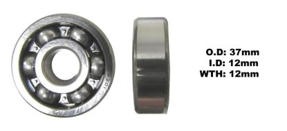 Picture of Bearing SNR 6301(I.D 12mm x O.D 37mm x W 12mm)