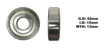 Picture of Bearing SNR 6302ZZ(I.D 15mm x O.D 42mm x W 13mm)