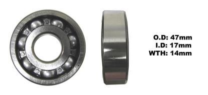 Picture of Bearing SNR 6303(I.D 17mm x O.D 47mm x W 14mm)