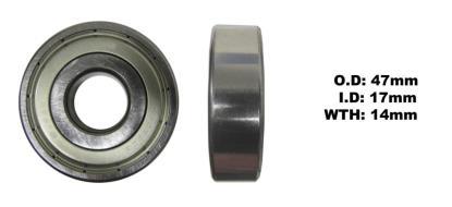 Picture of Bearing SNR 6303ZZ (I.D 17mm x O.D 47mm x W 14mm)