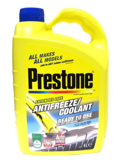 Picture of Prestone Ready To Use Coolant, Compatible With Any Colour Coolant. (4 Litres)