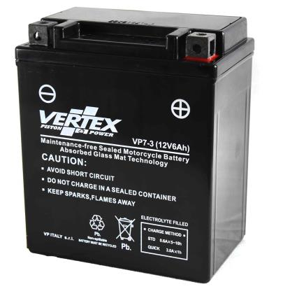 Picture of Vertex VPX7L-BS Battery replaces CTX7L-BS