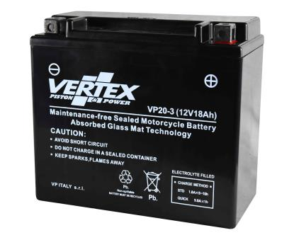 Picture of Vertex VPX20L-BS Battery replaces CTX20L-BS/CTX20HL-BS