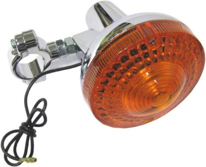 Picture of Complete Indicator Yamaha DT125, DT175 Front Chrome with chrome clamp